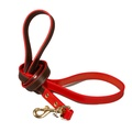 Pimlico Leather Dog Lead – Chocolate & Red