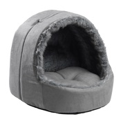 House of Paws -  Arctic Silver Fox Hooded cat bed