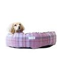 Pink Shetland Wool Luxury Cocoon Dog Bed 2