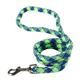 Braided Dog Lead – Fluorescent Green & Blue