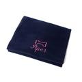 Personalised Navy Bone Dog Blanket - Italic font