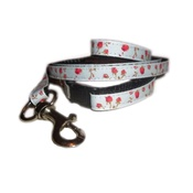 Zukie Style - Vintage English Rose Small Dog/Puppy Collar & Lead Set