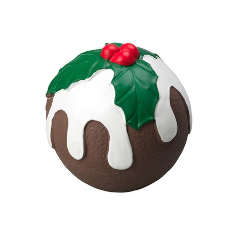 Latex Squeaky Christmas Pudding Dog Toy