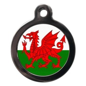 PS Pet Tags - Red Dragon Flag Pet ID Tag