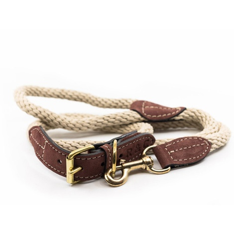 Rope lead (braided) - Ivory