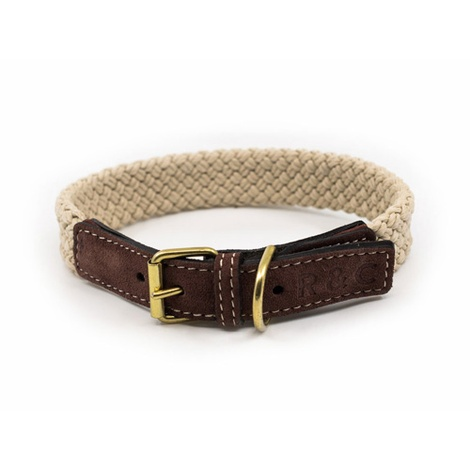 Rope collar (flat) - BROWN 2