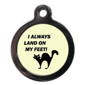 PS Pet Tags - I Always Land on My Feet Cat Tag