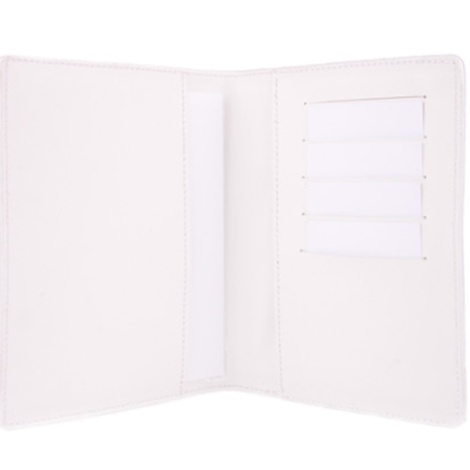 Leather Pet Passport - White