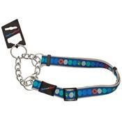 Hem & Boo - Circles Dog Training Collar - Blue