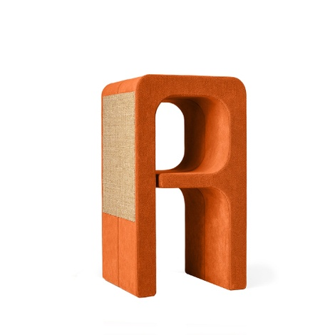 Scratching Post - Letter A - Orange