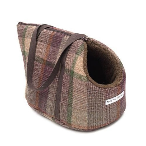 Grape Tweed Dog Carrier