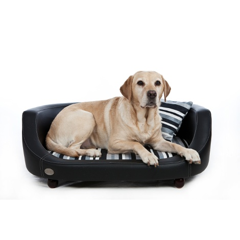 Oxford 2 Leather Pet Bed - Moonlight Black