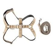 Bowl&Bone Republic - Active Dog Harness & Lead Set - Khaki