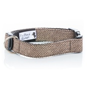 Pet Pooch Boutique - Brown Tweed Collar
