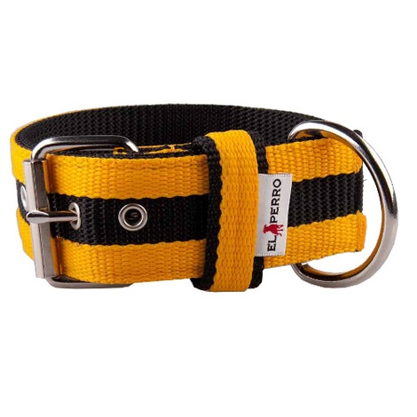Juicy Strip Dog Collar - Yellow