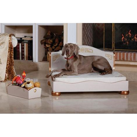 Classic Beige & Copper Dog Sofa 3