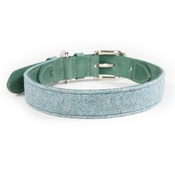 Mutts & Hounds - Teal Tweed & Leather Dog Collar