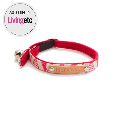 Pink Geo Cat Collar
