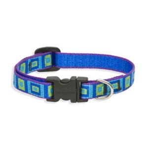 "Sea Glass Lupine Dog Collar 1/2"" Width"