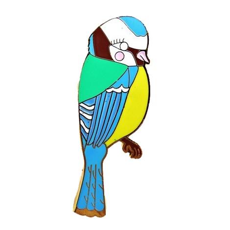 Enamel Blue Tit Brooch
