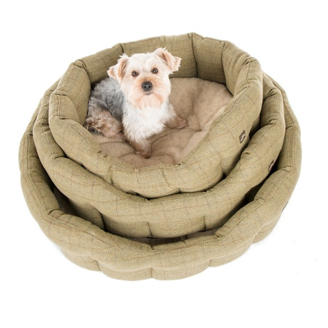 Tweed Oval Dog Bed  3