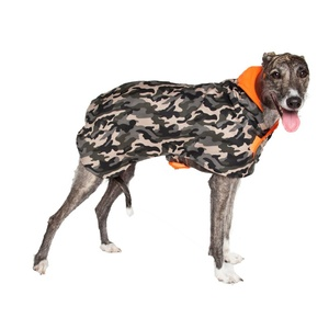 Join the pet fashion army in this cool camo coat. The fleecy lining is pawfect for keeping your canine warm.