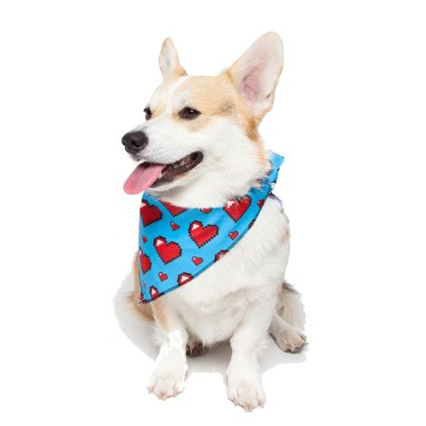 Pixel Hearts Dog Bandana
