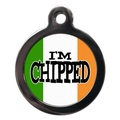 I'm Chipped Irish Flag Pet ID Tag