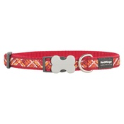 Red Dingo - Flanno Dog Collar – Red