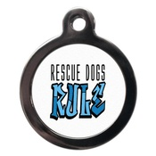 PS Pet Tags - Rescue Dogs Rule Pet ID Tag