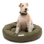 Mutts & Hounds - Forest Green Tweed Donut Bed