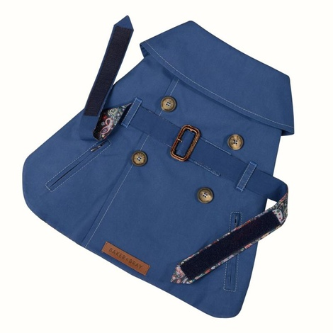 Kensington Dog Trench Coat – Royal Blue & Liberty Karm 2