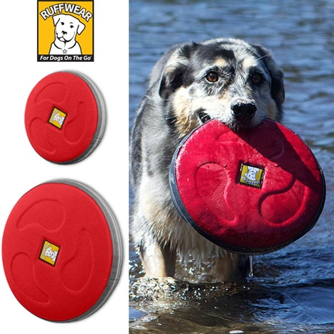 Ruffwear Hover Craft Dog Toy - Red Currant 3