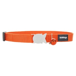 Plain Orange Cat Collar