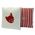 Cat Cushion Red Stripe Cushion