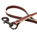 Paris Croc Dog Lead – Burgundy & Stone 2