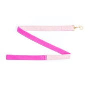 Pet Pooch Boutique - Pink Tweed Lead - Gold