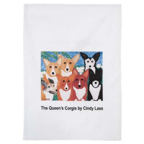 Corgis Tea Towel