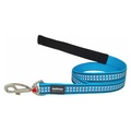 Bones Reflective Dog Lead - Turquoise