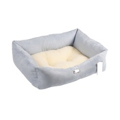 Pet Pooch Boutique - Blue Sherpa Fleece Dog Bed