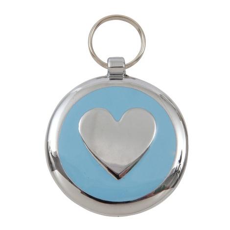 Smarties Light Blue Heart Pet ID Tag