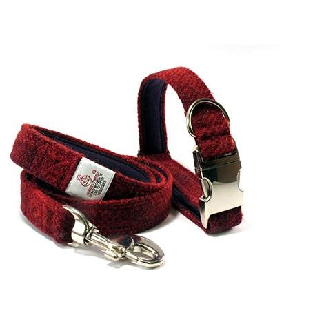 Red Check Collar & Lead Set