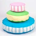 Bon Bon Soft Dog Bed - Pink Stripe 4