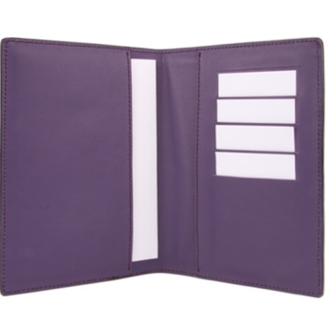 Leather Pet Passport - Amethyst