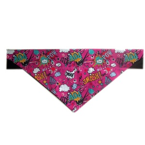Comic Pow Slogan Dog & Cat Bandana - Pink