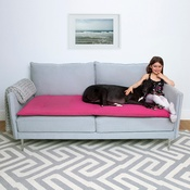 The Lounging Hound - Wool Sofa Topper - Peony