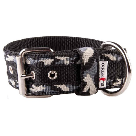 Camouflage Kennel Dog Collar - Winter