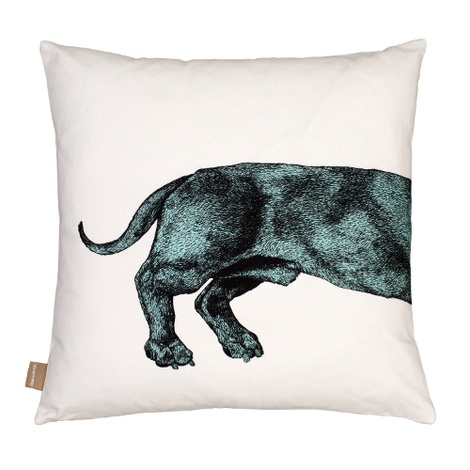 Dachshund Cushion - Turquoise 2