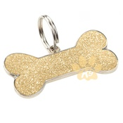 K9 - Glitter Bone ID Tag - Gold