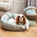 Dog Print Duck Egg Donut Bed 4